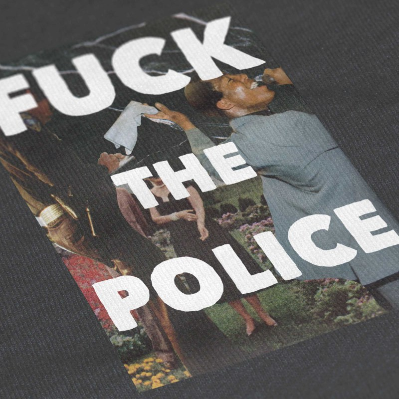Social Living_Close-Up T Shirt Mockup_Fuck The Police