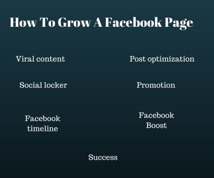 how to Grow a facebook page