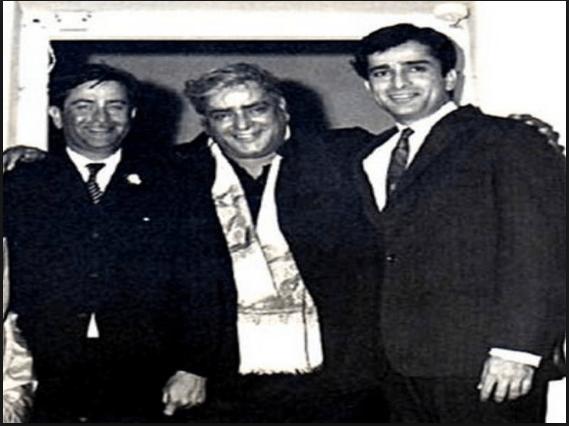 Prithvi, Raj and Shashi Kapoor