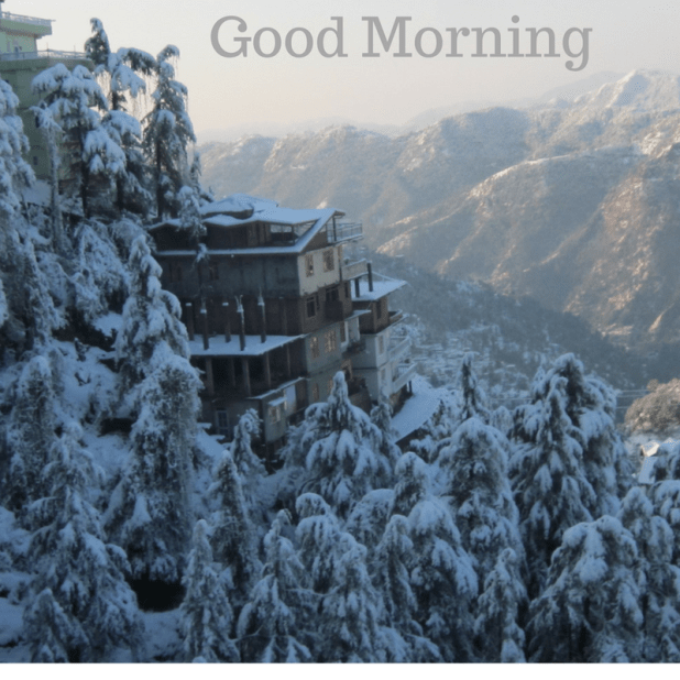 Winter good morning image