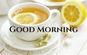 lemon tea good morning picture