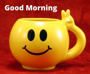 good morning tea image swith smile