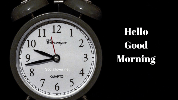 Free good morning clock images