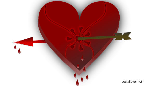 heart break images with arrow