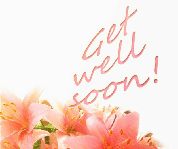 Cute get well soon images with flowers