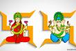 Lord Ganesha and Mahalaxmi happy diwali images