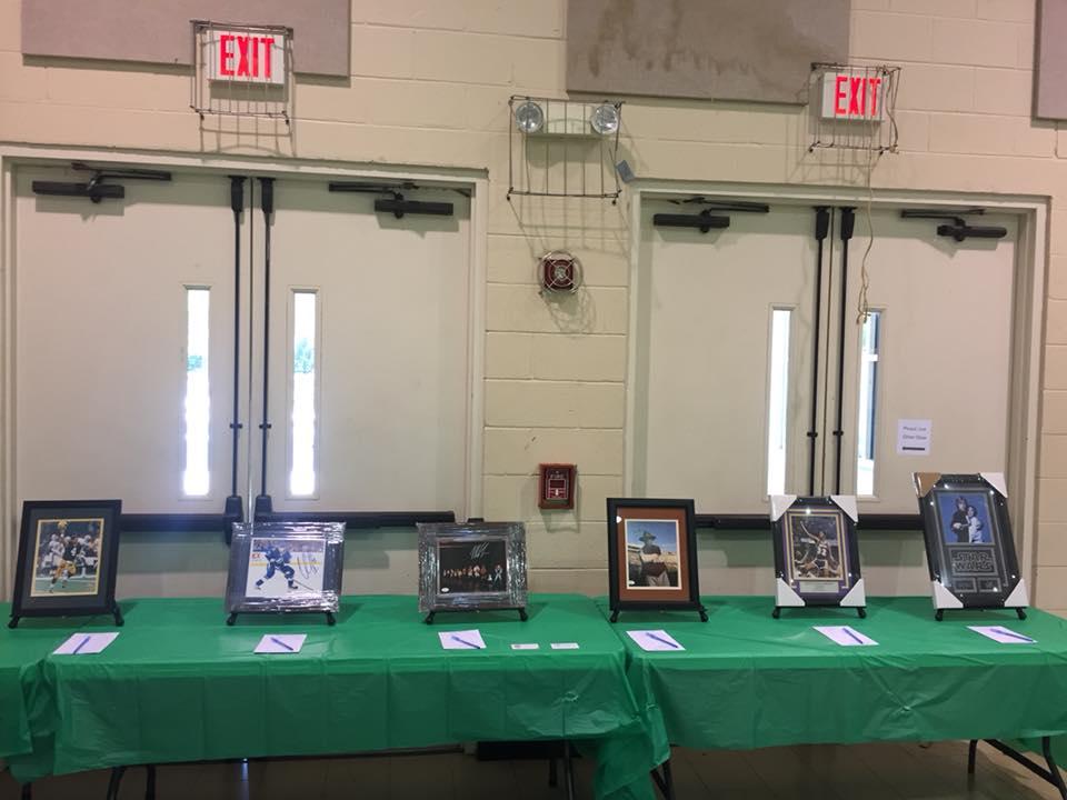 Auction items at St. John's United Methodist Church