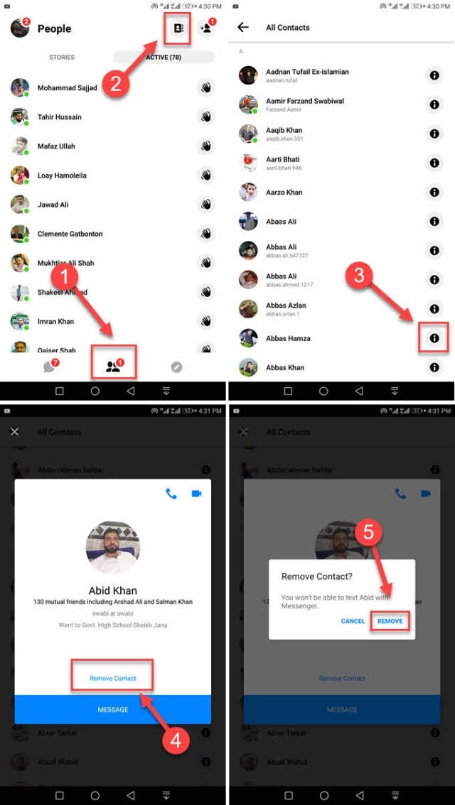 How to Remove Contacts from Messenger? With Pictures - SociallyPro