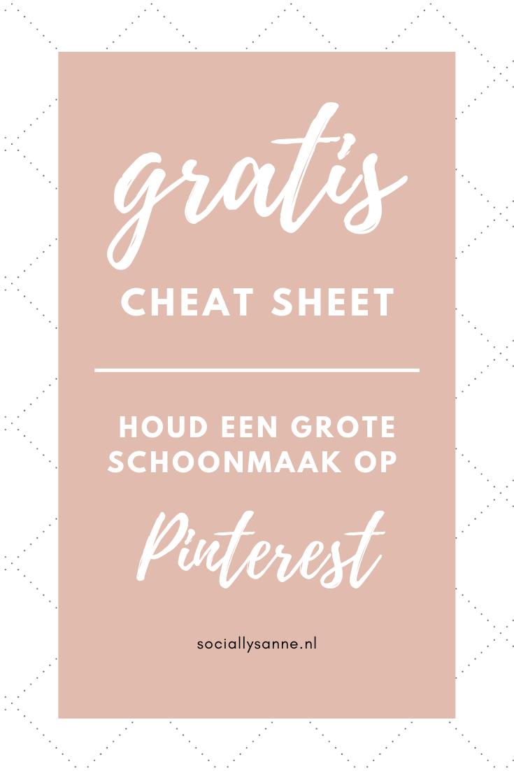 Hoe en waarom houd je een grote schoonmaak op Pinterest? Je leest het in dit blog, download de gratis checklist! | SOCIALLYSANNE.NL | #sociallysanne #pinterestmarketing #groteschoonmaak #socialmedia