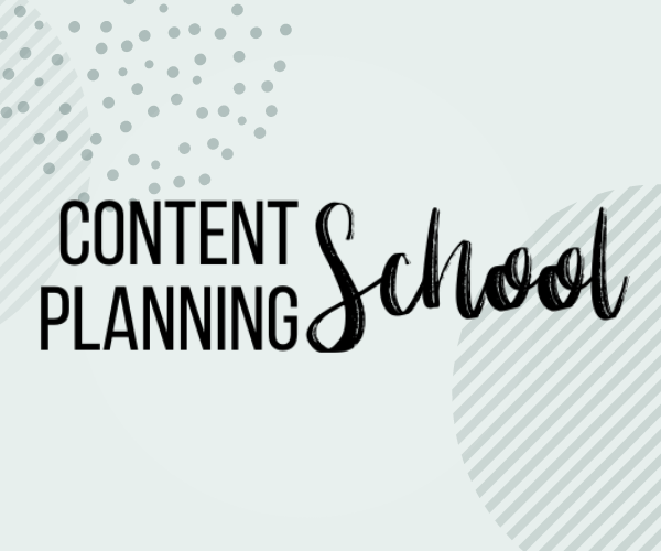 content planning school afbeelding homepage Socially Sanne