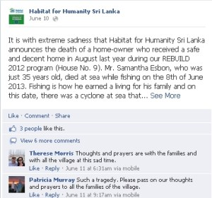 Habitat for Humanity Sri Lanka Facebook