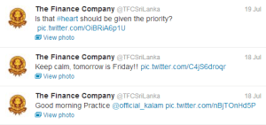The Finance Company Twitter