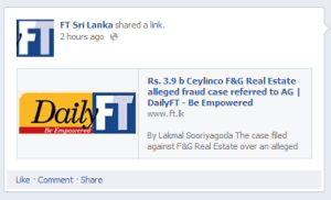 Financial Times Sri Lanka Facebook