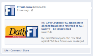 Financial Times Sri Lanka Facebook