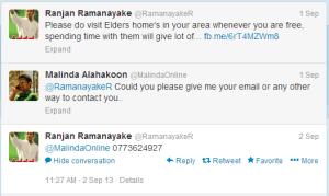 Ranjan Ramanayake Twitter
