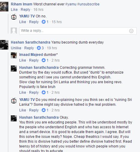 YAMU replies to viewers with overconfidence