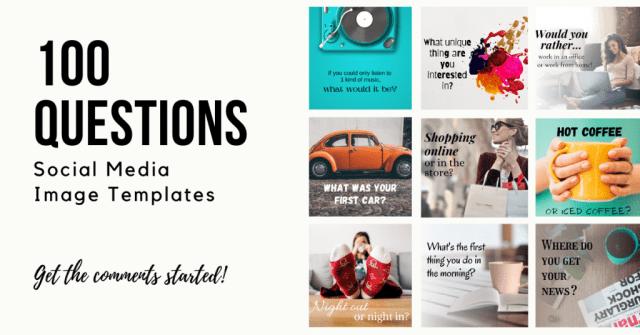 100 Questions Social Media Image Templates
