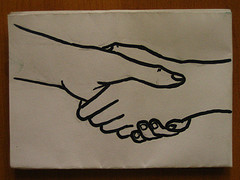 Handshake by Aidan Jones on Flickr