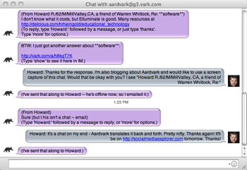 Aardvark Chat Session