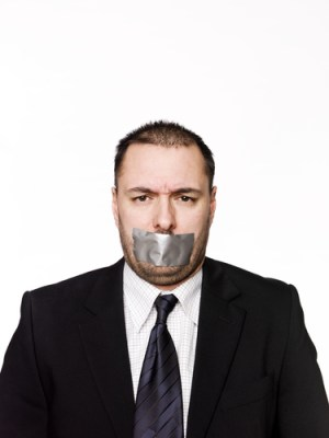 Gagged Man by Gemenacom on Shutterstock.com