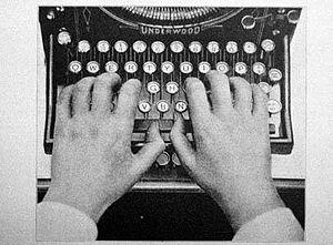 """The """"QWERTY"""" layout of typewriter ke..."""