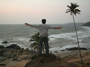 Navendu Shirali at Arambol Cliff