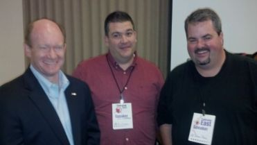 Senator Coons with C.C. Chapman and Jason Falls