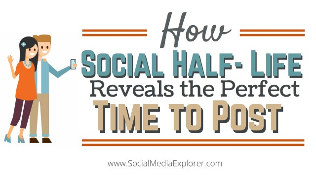How Social Half-Life Reveals the Perfect Time to Post