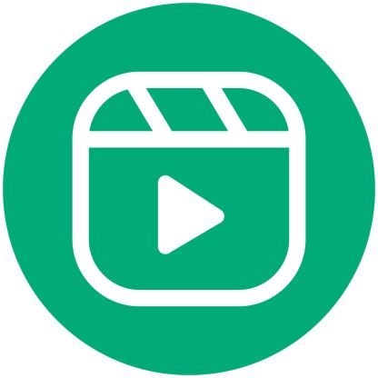 Reels - Mint Social Media Icon