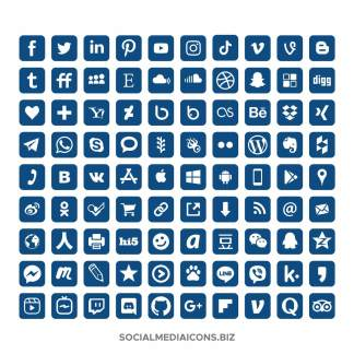 Classic Blue Icon Set