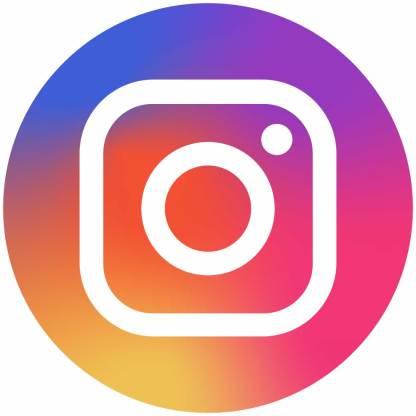 Instagram circle social media icons