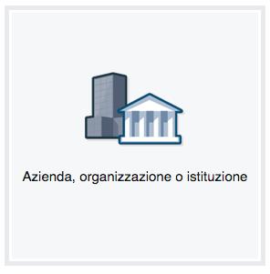 azienda organizzazione istituzione pagina facebook
