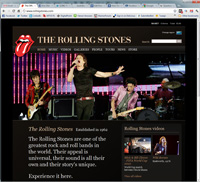 RollingStones.com Page Rank 6 Alexa 152,982