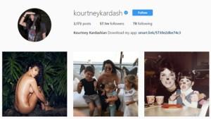 Instagram Kourtney Kardashian