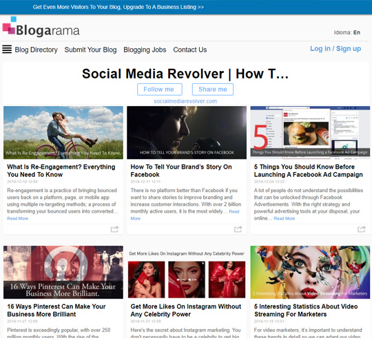 Social Media Revolver Posts On Blogorama