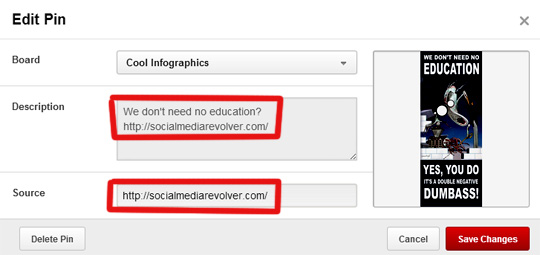 How To Upload To Pinterest with Backlinks