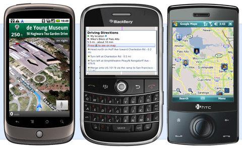 Google Maps pada Smartphone