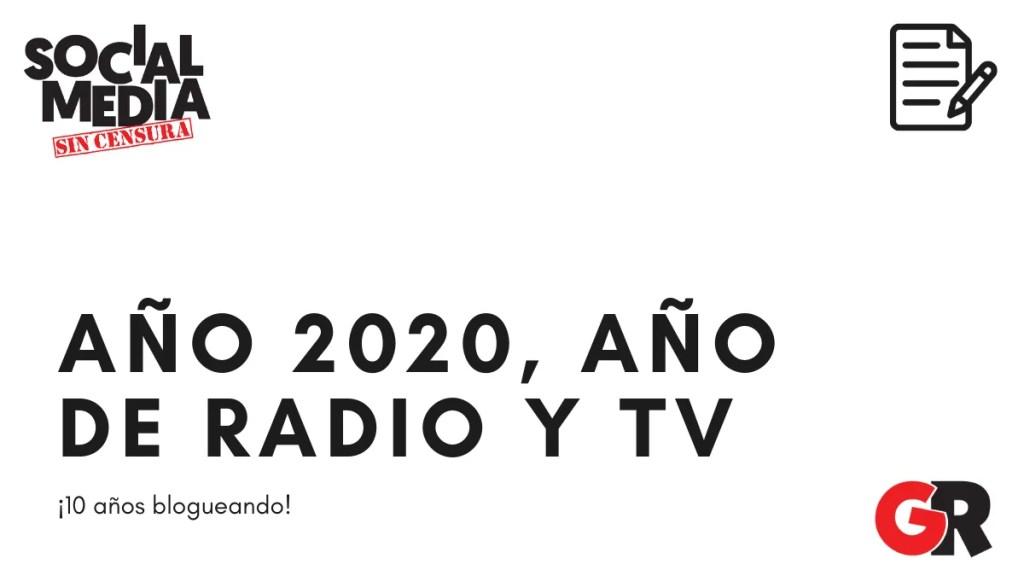 blogging radio y TV