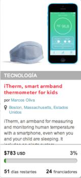 Itherm en Indiegogo