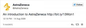 AstraZeneca 1 tweet