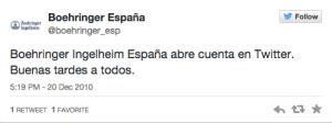 Boehringer España 1 tweet