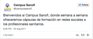 Campus Sanofi 1 tweet
