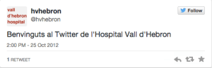 Vall D Hebron primer tweet
