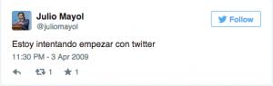 1 Tweet Julio Mayol