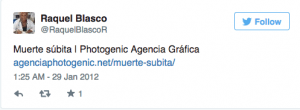 1 Tweet Raquel Blasco