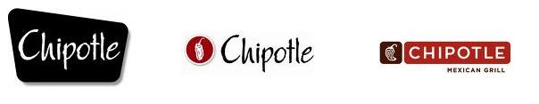 These are various logos that Chipotle has used in chronological order.