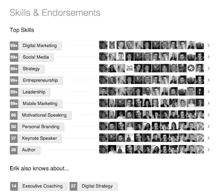 Linkedin skills & endorsements