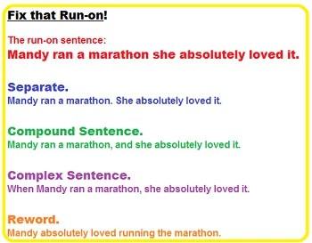 run a sentence