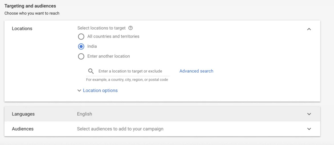 Audience Selection Google Adwords