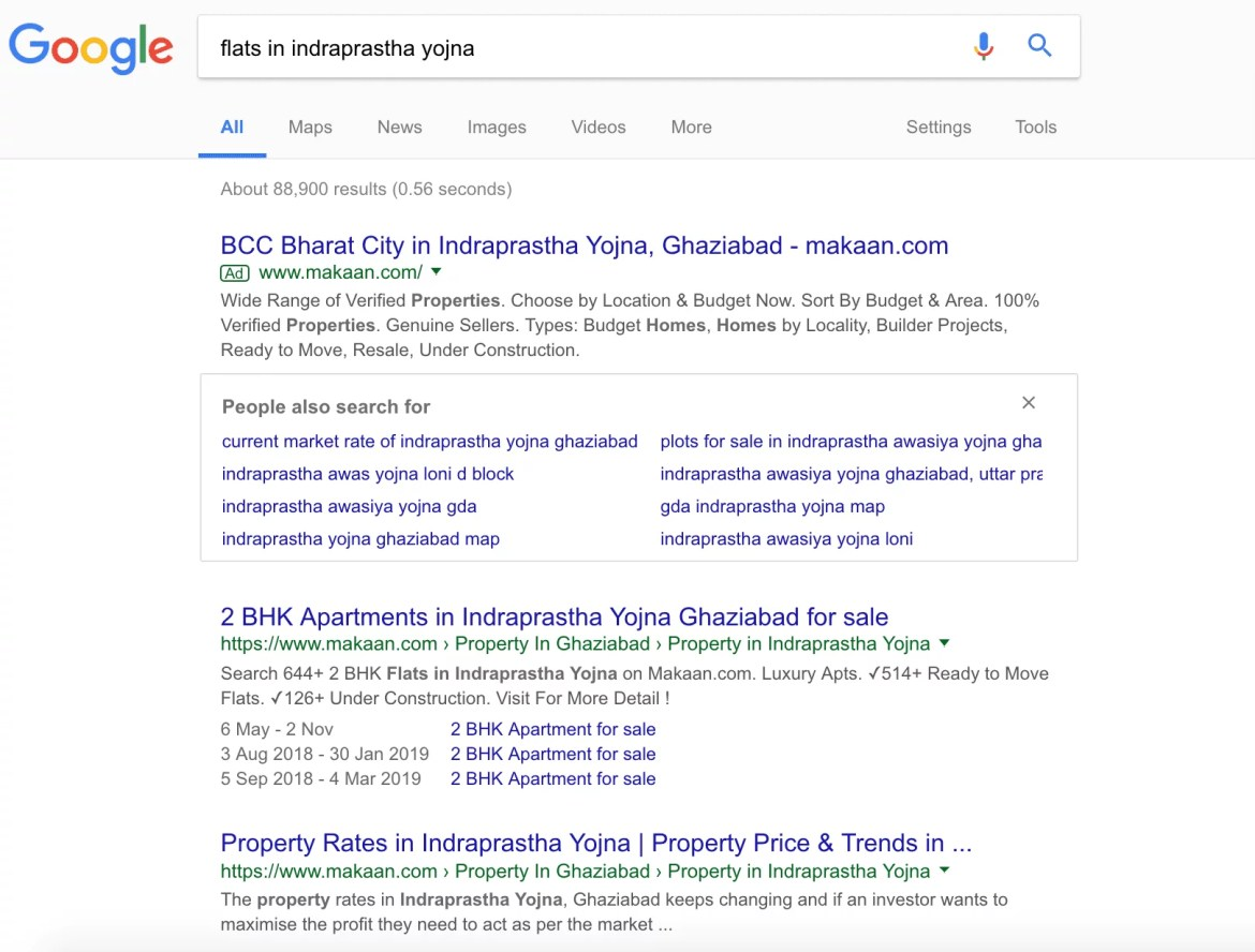 Google SERP Page